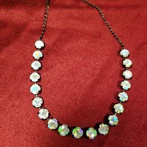 Hologram gem necklace in black setting